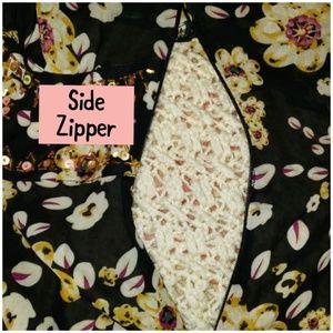Lane Bryant Tops - Lane Bryant Peplum Top with side zipper